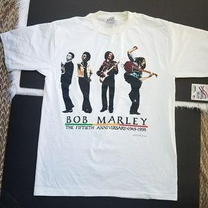 1995 Bob Marley Men's White Shirt